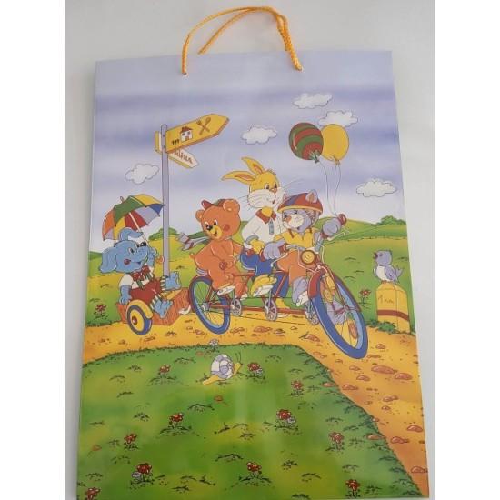 Παιδικό Σχέδιο Ζωάκια Με Ποδήλατο Πολυτελείας