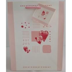 Καθημερινό Σχέδιο Άσπρο Ροζ Κόκκινο Καρδιά Valentine Πολυτελείας