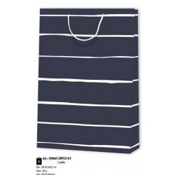 Καθημερινό Σχέδιο  Μπλε Σκούρο με Άσπρη Ρίγα Πολυτελείας