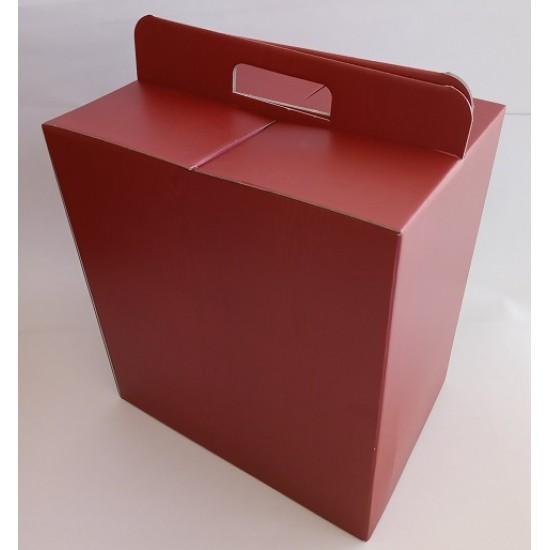 Κουτιά Δώρων Μπορντώ Απομίμηση Ξύλου Με Χεράκι
