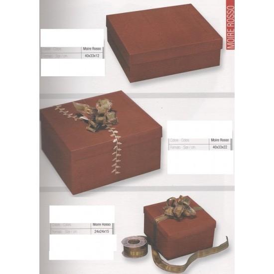 Κουτιά Δώρων Μπορντώ Απομίμηση Ξύλου