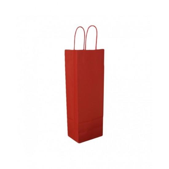 Στριφτό Χεράκι Τσάντα Χάρτινη Ποτού Κόκκινη