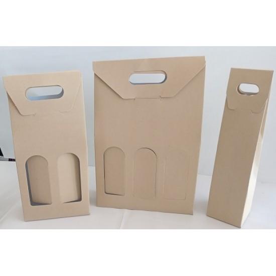 Κουτιά Ποτού Κραφτ  Μίας Δύο & Τριών θέσεων